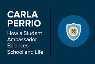 How a student ambassador balances school and life