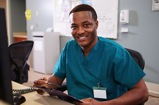 Healthcare worker man