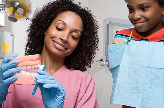 Dental Assistant working woman
