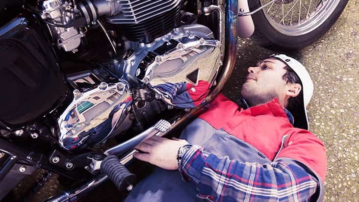 Motorcycle Repair Technician student