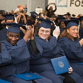 Group of Penn Foster students at graduation.