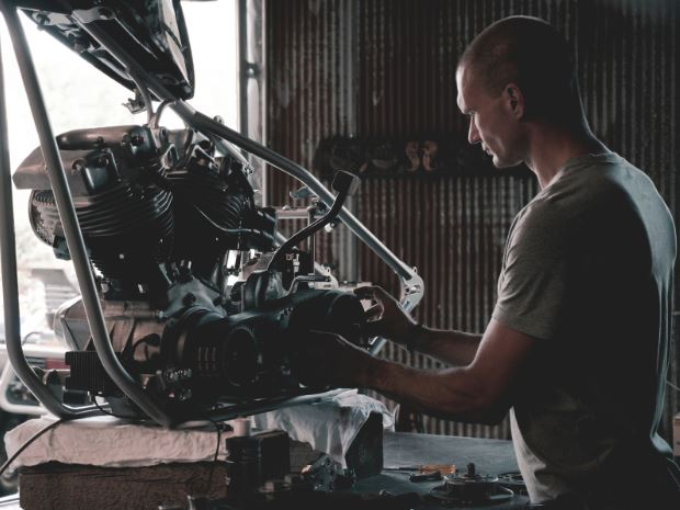 Man working on an engine