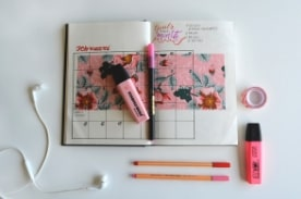 daily planner with markers