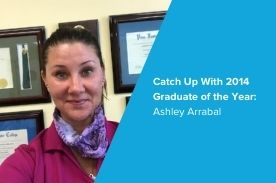 2014 Graduate of the Year Ashley Arrabal.