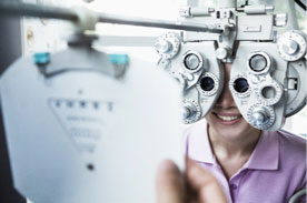 Routine eye exam