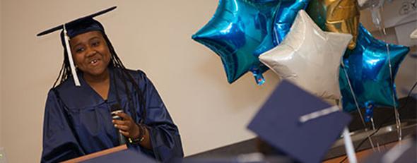 Nikkayla Gentry Penn Foster High School Graduate.