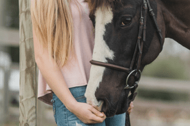 Girl With Horse Image